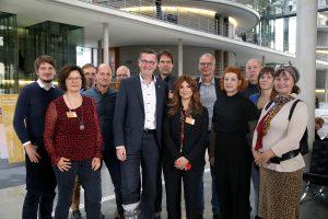 Der ARD-Freienrat mit dem Medienpolitischen Sprecher der SPD-Fraktion, MdB Martin Rabanbus